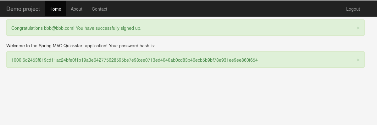 Password hash generated using PBKDF2PasswordEncoder